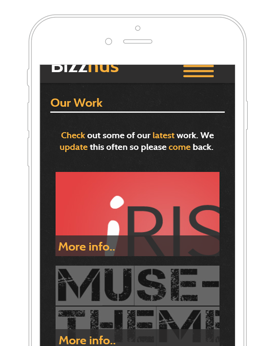 Bizznus adobe muse mobile template by for Adobe muse mobile templates