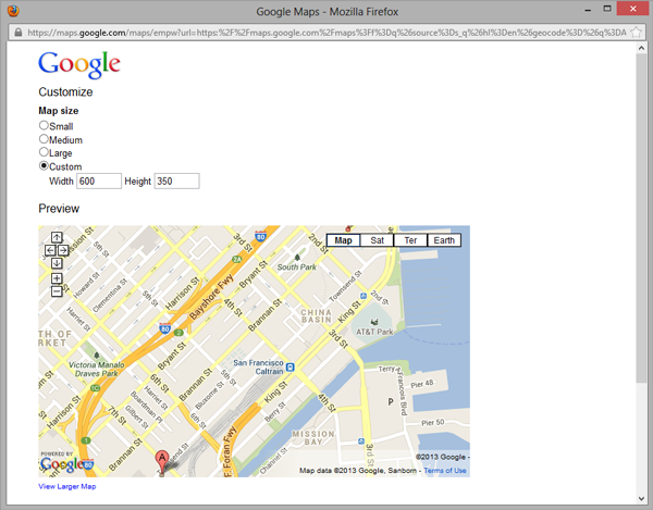 Adobe Muse Templates | Full Width Google Maps by MuseThemes com