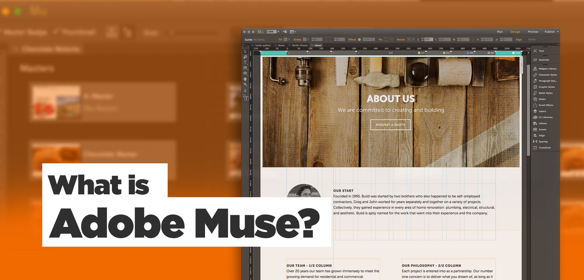 What Is Adobe Muse Website Builder Adobe Software Overview