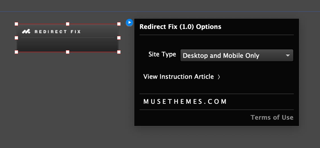 Free Widget - Fix the Muse Mobile Redirect Issue