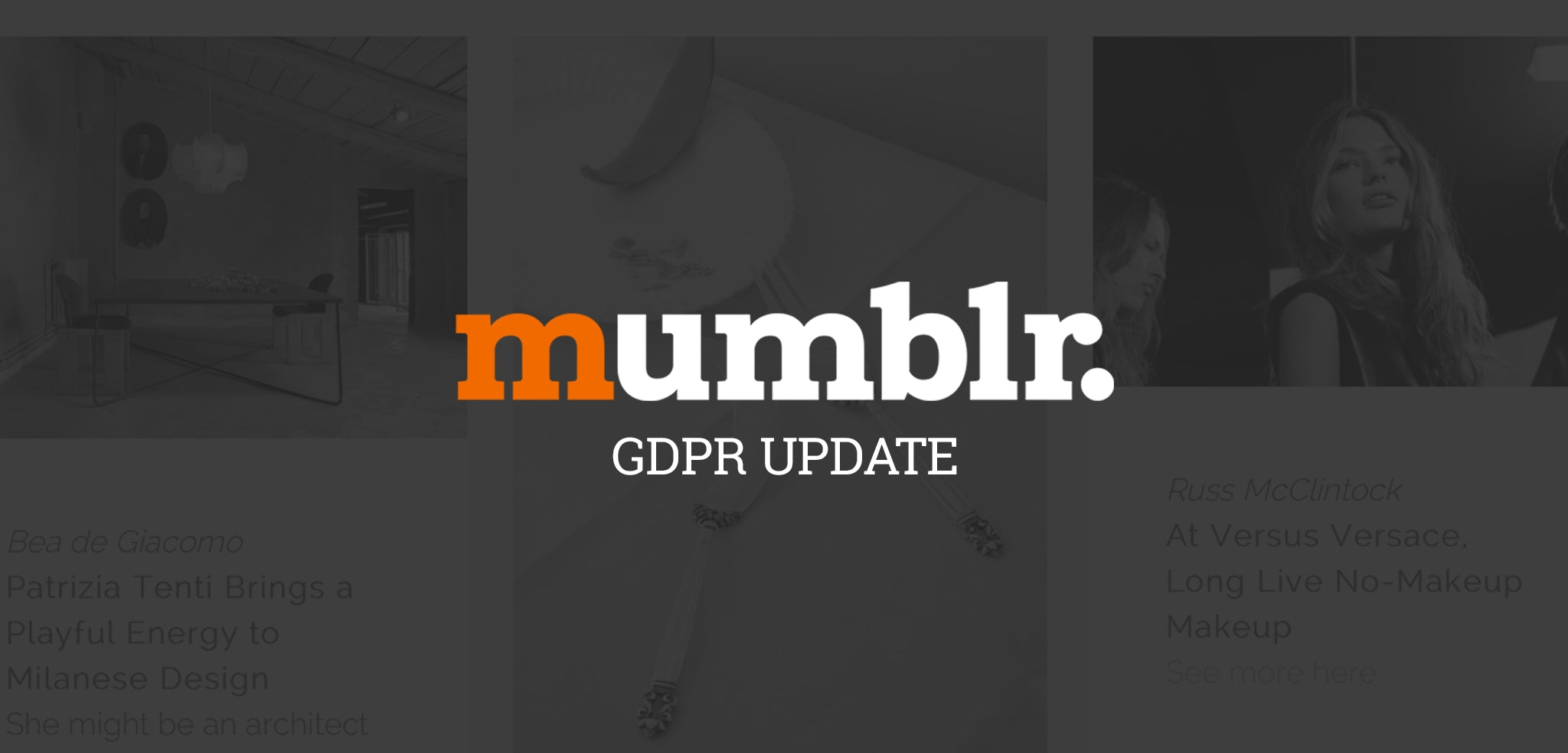 Mumblr GDPR Update