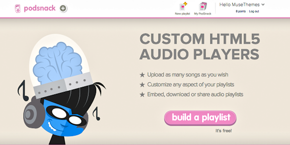 Audio Player in Adobe Muse - Embed a Mobile / Tablet Friendly Widget
