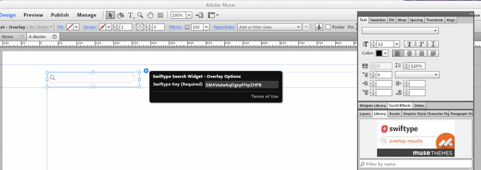 Site Search Widget for Adobe Muse – Swiftype | MuseThemes com