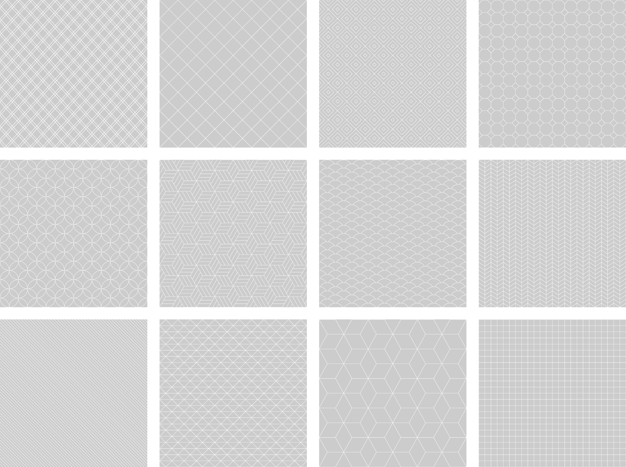 Free Seamless Patterns - Light Outline