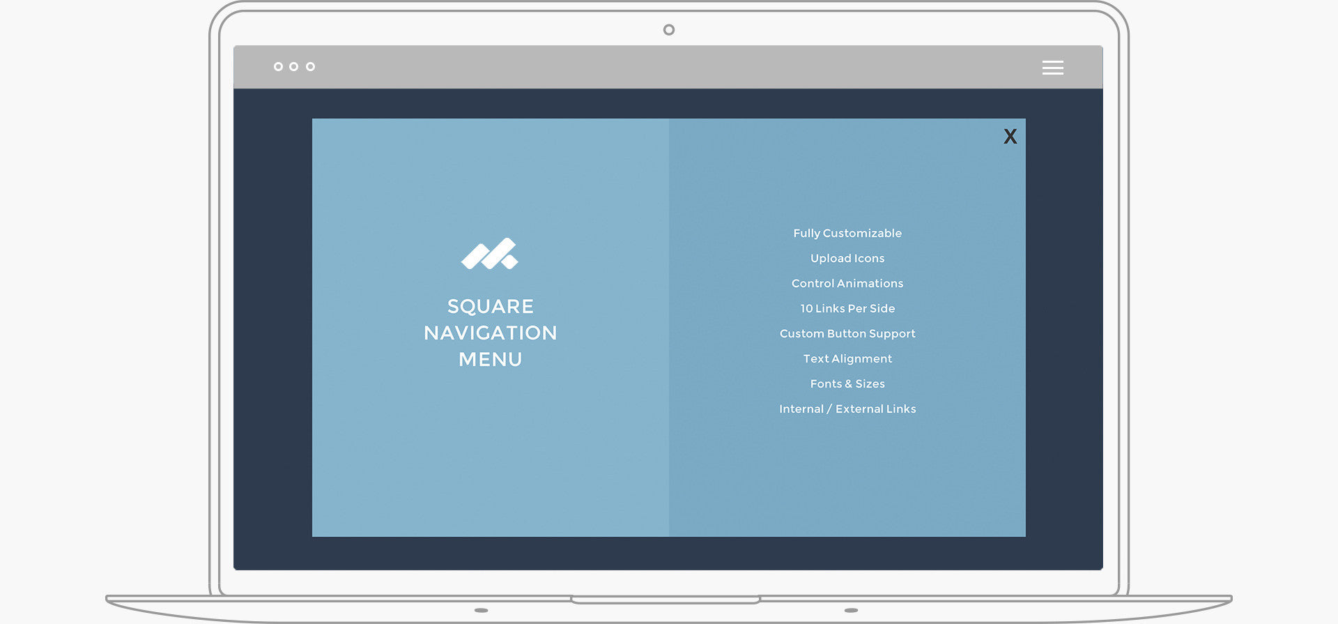 Square Navigation Menu