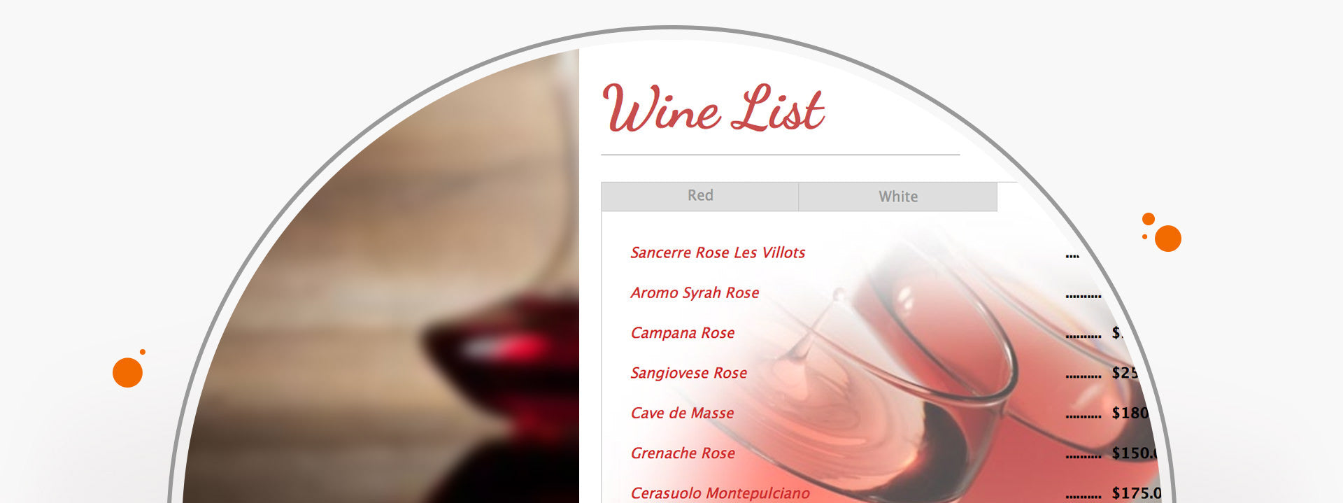 Tabs & Tooltips - Wine List