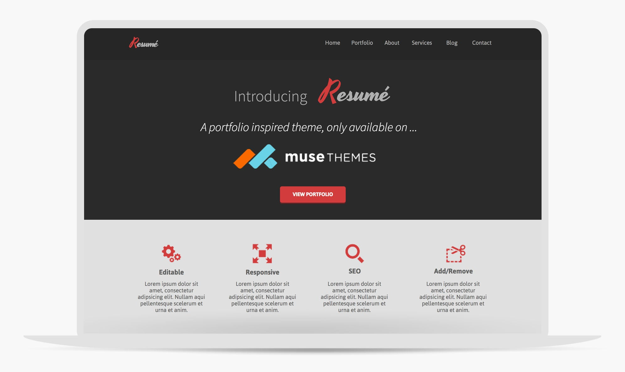Resume Portfolio Adobe Muse Template By Musethemes