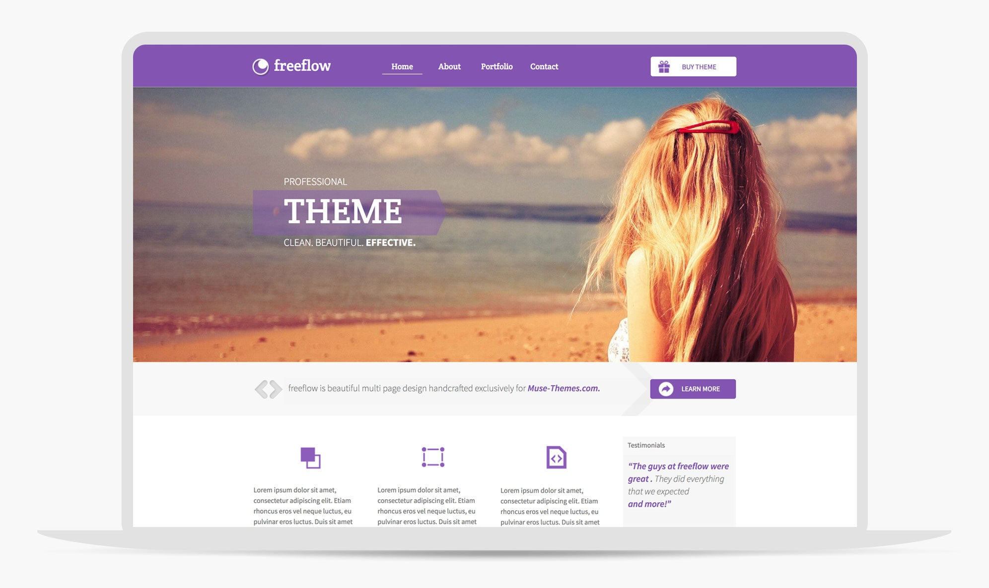 Adobe Muse Theme Freeflow By Musethemes