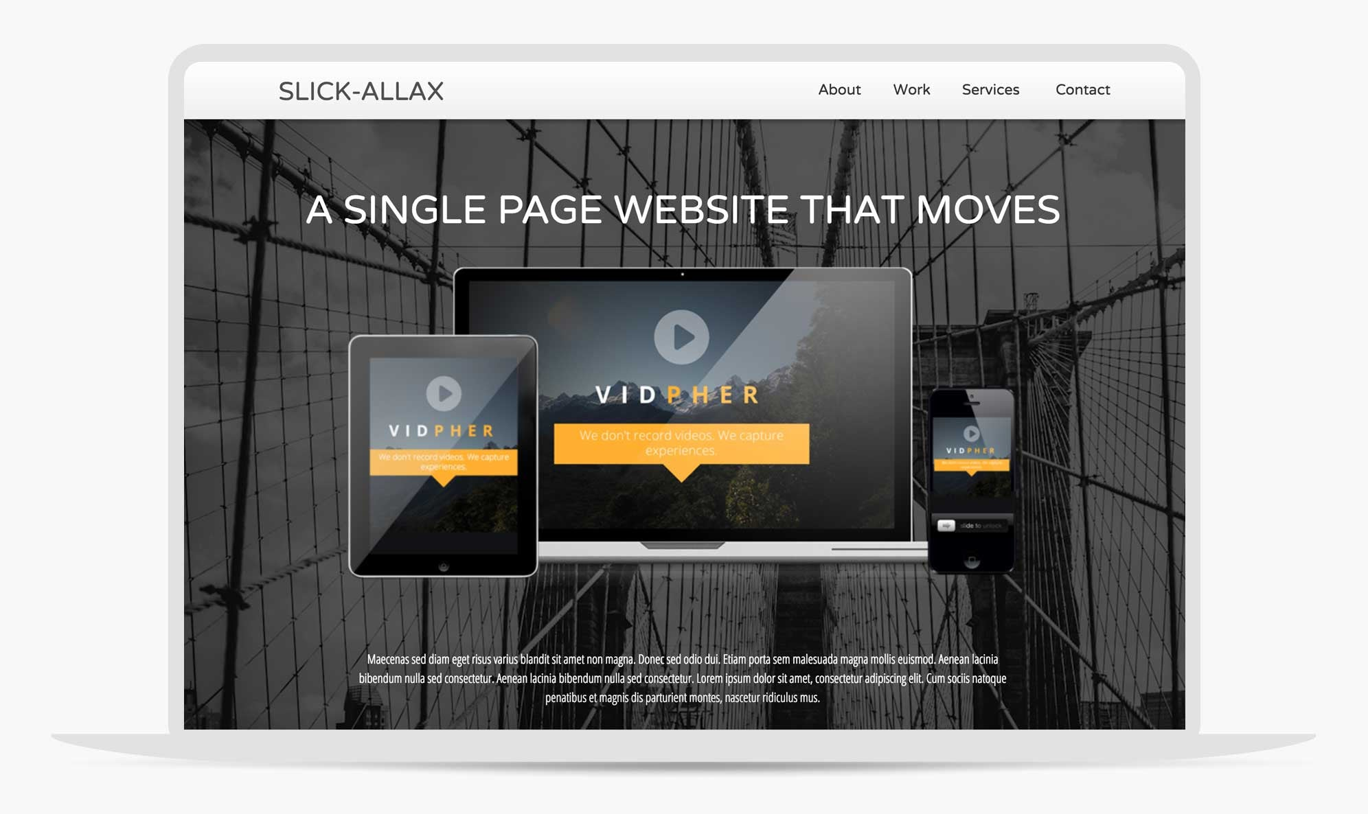 Slickallax Motion Scroll Adobe Muse Template