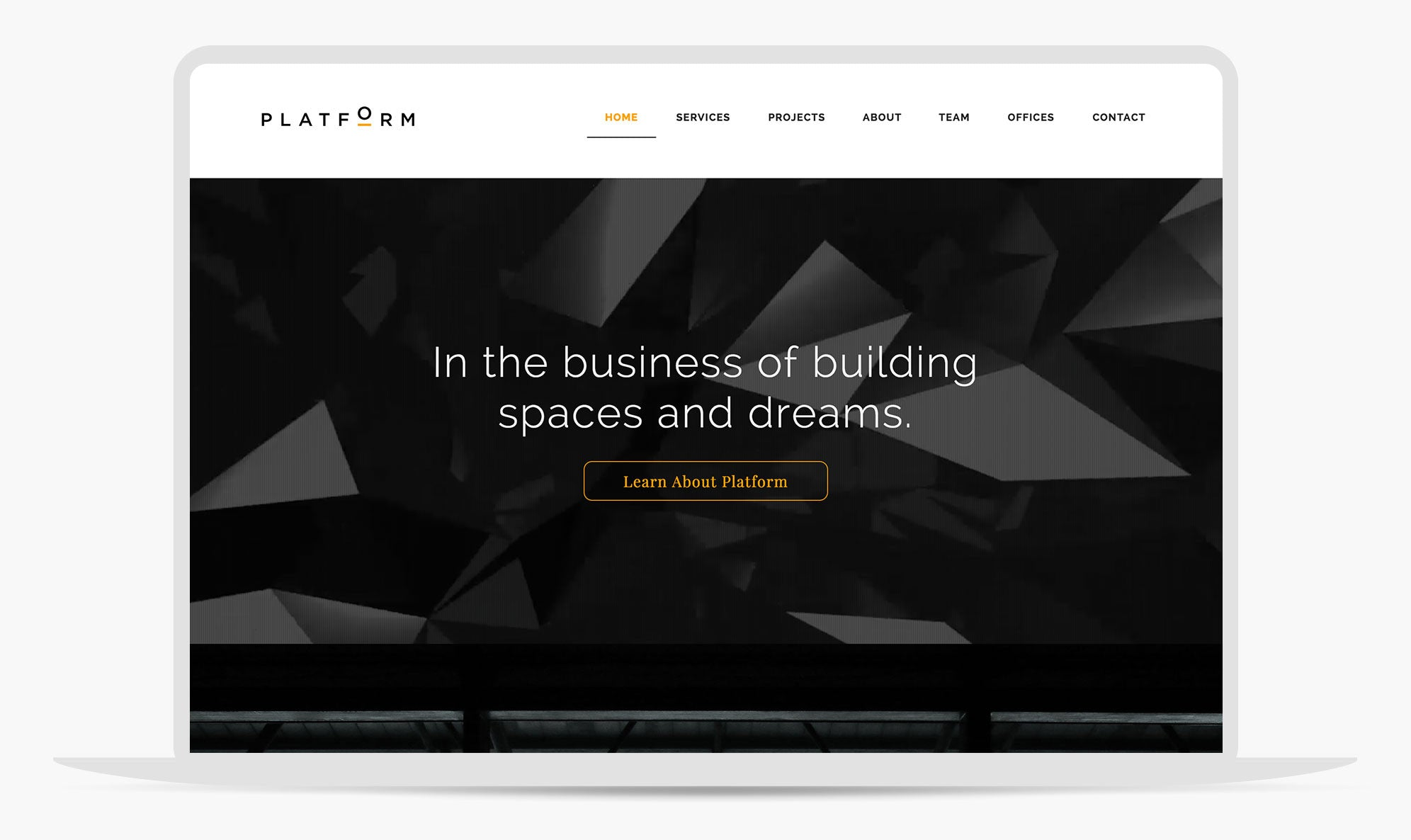 Platform | Adobe Muse Architure firm website template by MuseThemes com