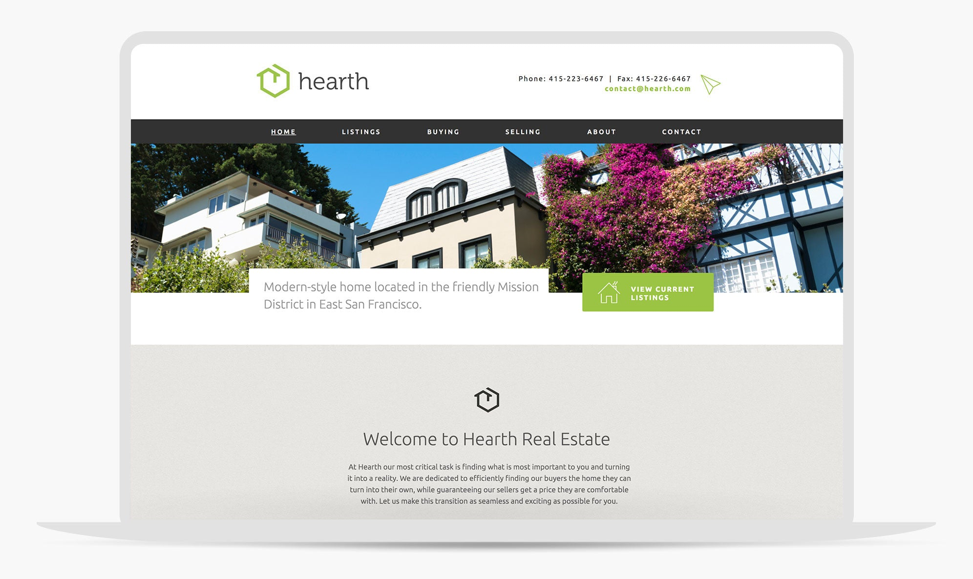 Hearth | Adobe Muse Real Estate website template by MuseThemes com