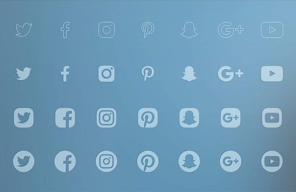 adobe muse social icons 2 0 graphic pack by musethemes