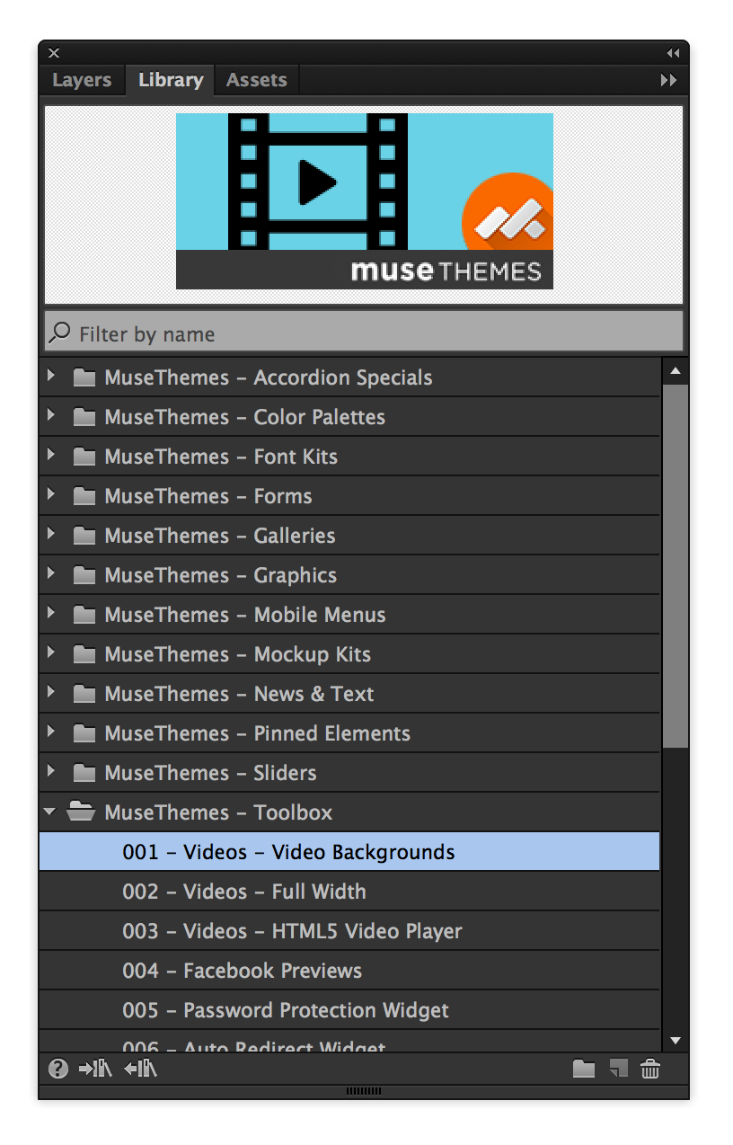 free adobe muse widgets and tools