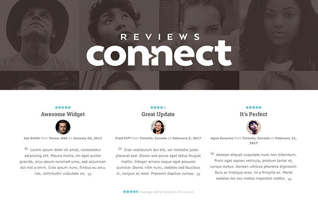 Reviews Connect Widget