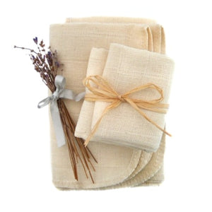Organic Muslin Face Cloths x2