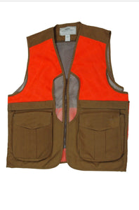 Waxed Cotton Upland Vest With Mesh Back