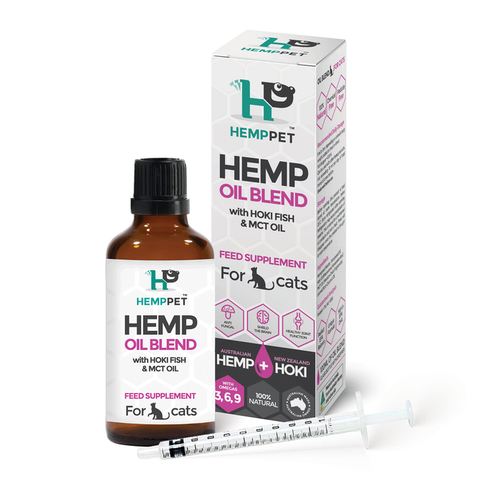 Hemp Oil Blend with Hoki Fish and MCT Oil for Cats 100ml