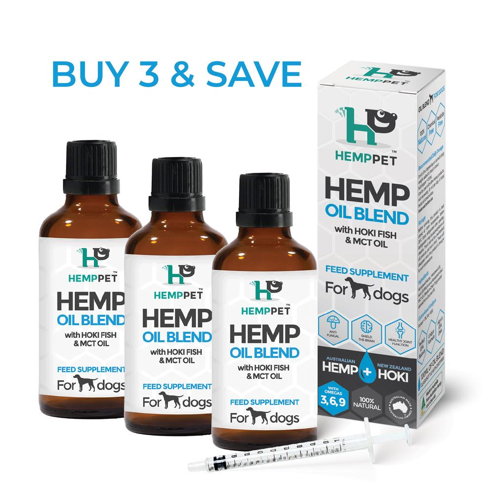 Hemp Oil Blend with Hoki Fish & MCT Oil for Dogs 3 x 100ml
