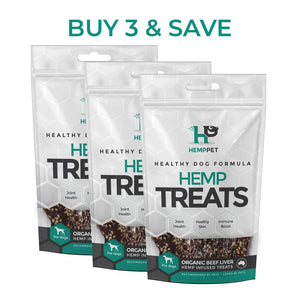 Organic Beef Liver Hemp Infused Treats for Dogs 3 x 80g