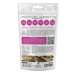 New Zealand Hoki Fish Hemp Infused Treats for Cats 70g