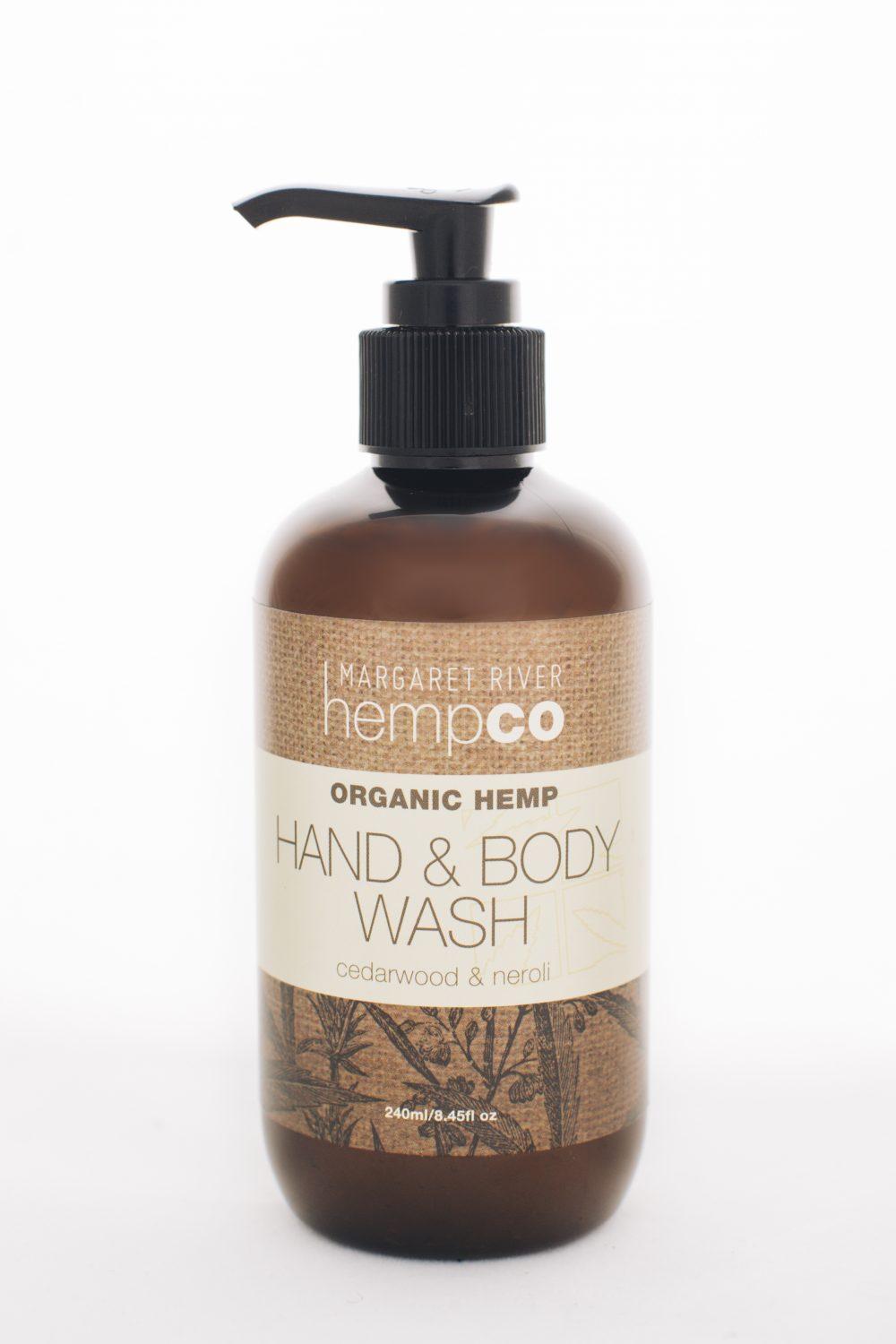 Hemp Hand & Body Wash – Cedar wood & Neroli – 240ml