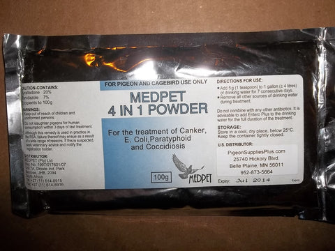 MedPet 4-in-1 Powder (100 grams package)