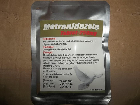 Metronidazole Tablet (250 mg) 100 count per packet
