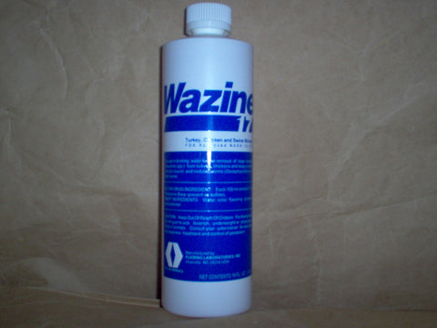 Wazine-17 liquid wormer (piperzine) 16 oz or 1 U.S. pint