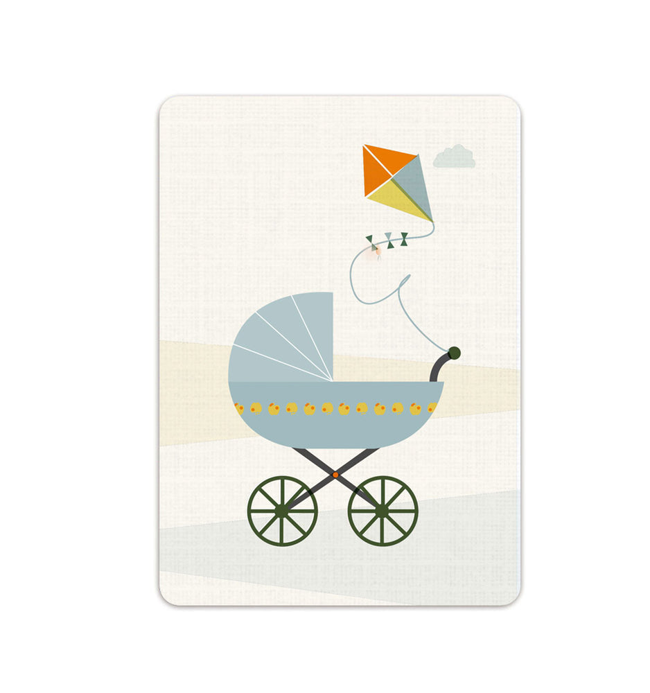 Postcard I baby carriage