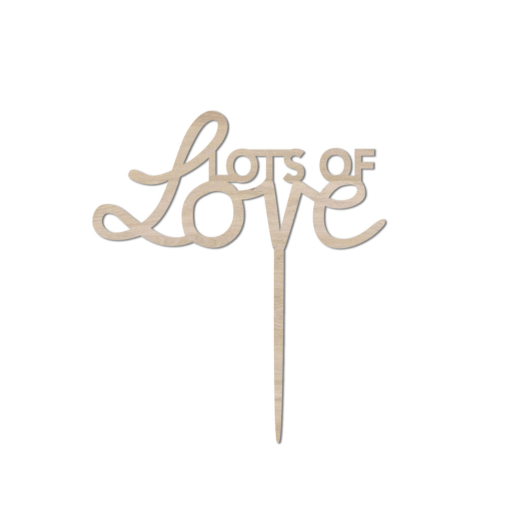 Cake Topper | Lots of Love
