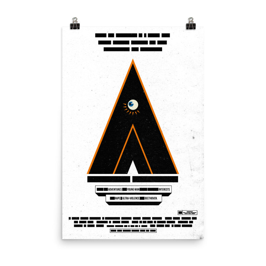 Clockwork Orange Inspired  poster Paint It Black