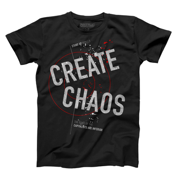 Create Chaos Men's T-Shirt - Unisex - Paint It Black Tees