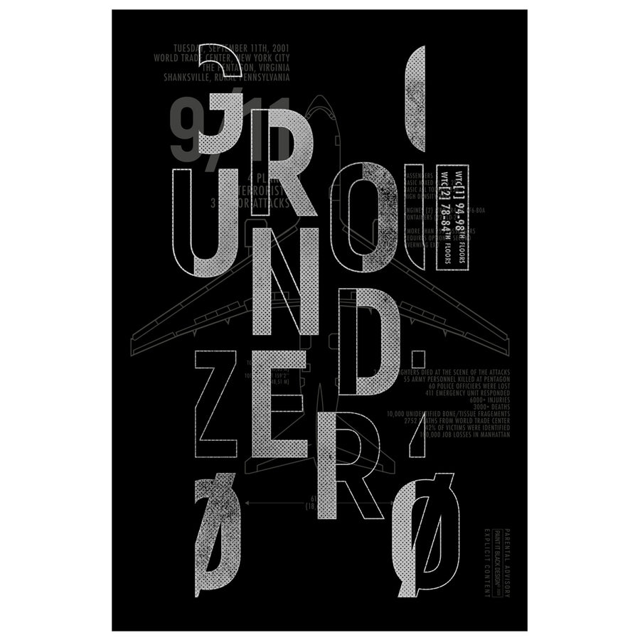 Ground Zero New York inspired poster Paint It Black