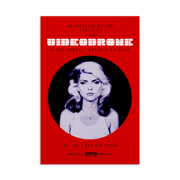 Videodrome Postcard | Paint It Black Postcards Shop