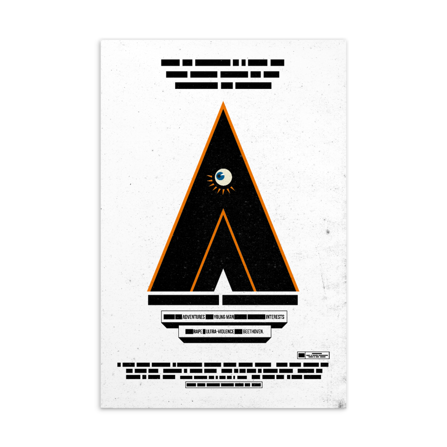 A Clockwork Orange - Paint It Black postcard shop online