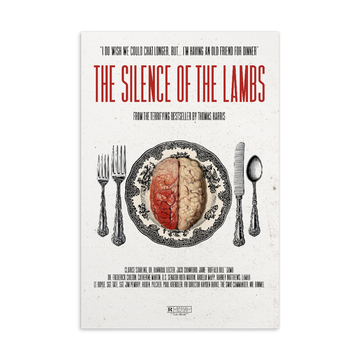 The Silence of the Lambs  Postcard - Paint It Black postcard shop online