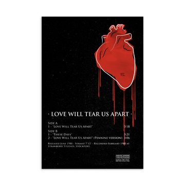 Love will tear us apart Postcard | Paint It Black Postcards Shop