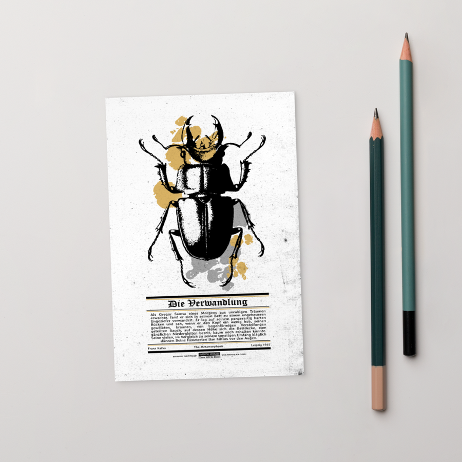 Metamorphosis Postcard - Paint It Black postcard shop online