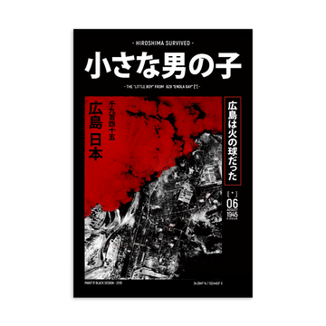 Hiroshima Bombing Postcard - Paint It Black postcard shop online