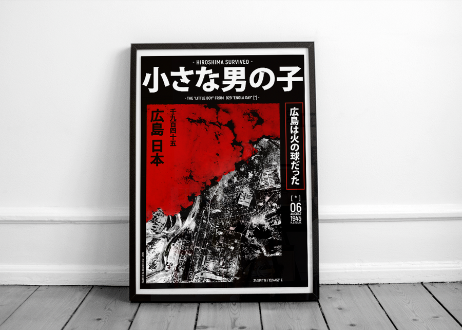 Hiroshima bombing inspired poster Paint It Black