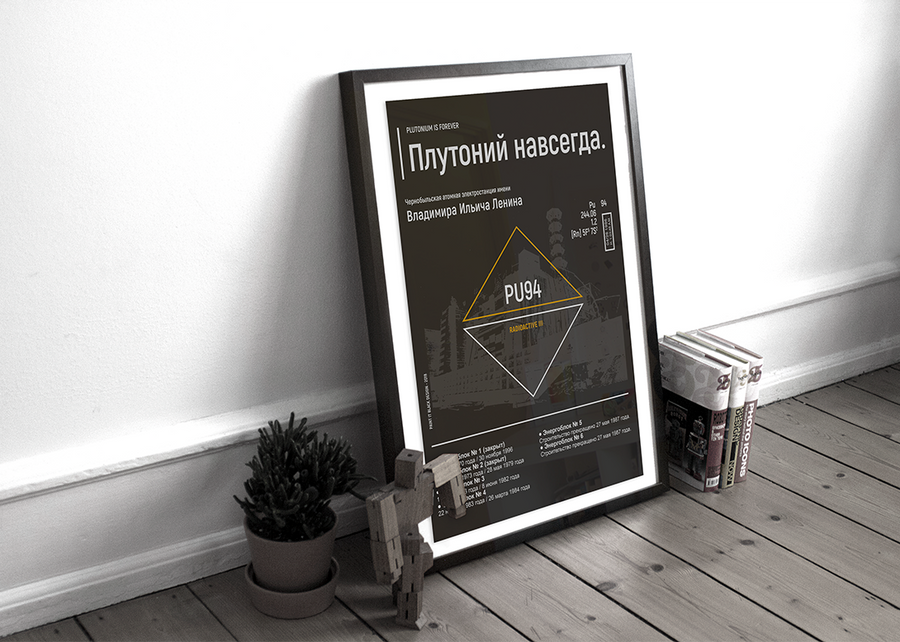 Chernobyl Disaster  inspired poster Paint It Black