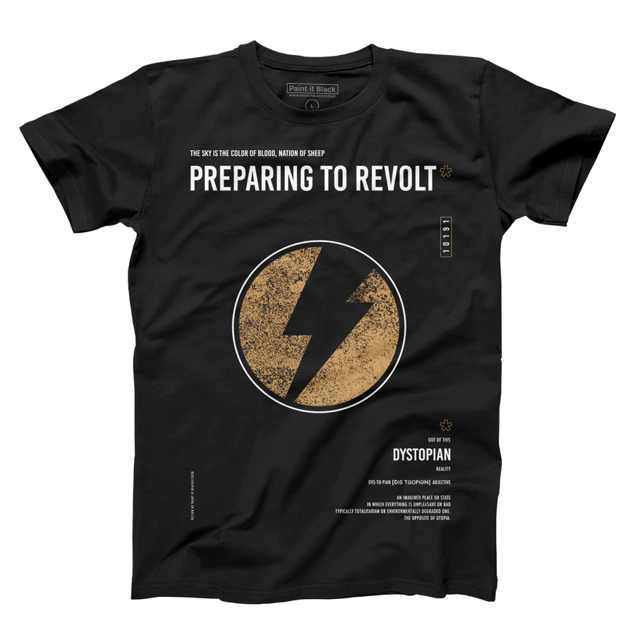 Revolt Men's T-Shirt - Unisex - Paint It Black Tees