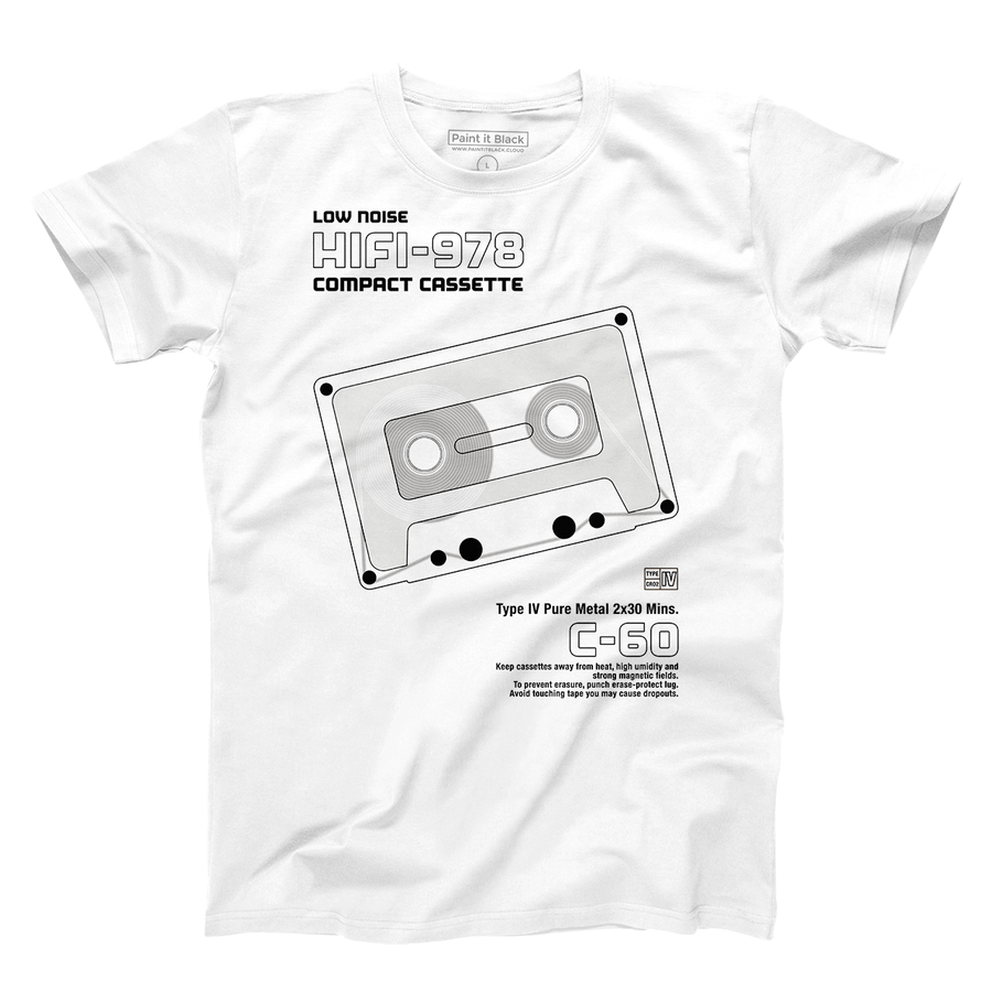Stereo Cassette Men's T-Shirt - maglietta uomo - Paint It Black online Clothings online shop