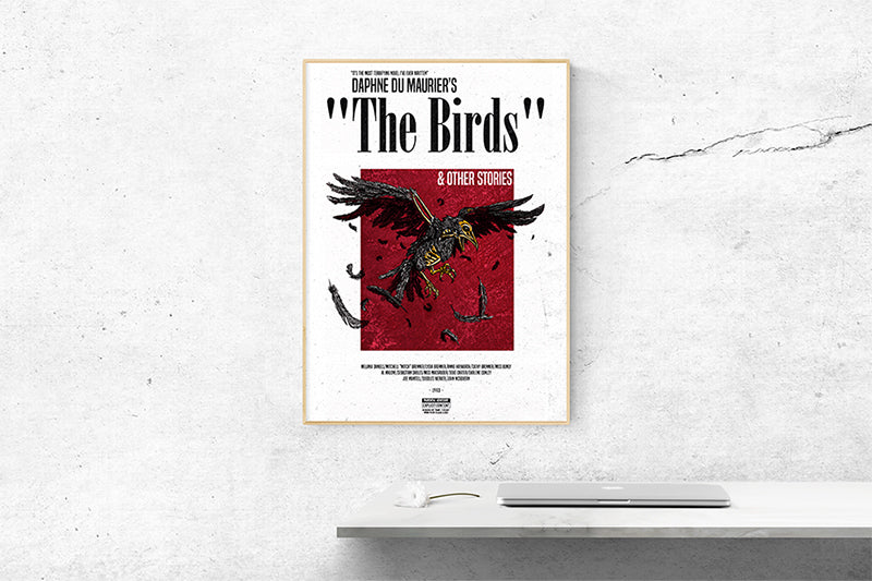 The Birds Inspired Poster Alfred Hitchcock Paint It Black