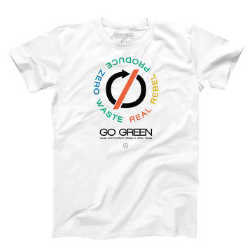 go-green-maglietta-uomo-men-tshirt - Paint it Black online shop