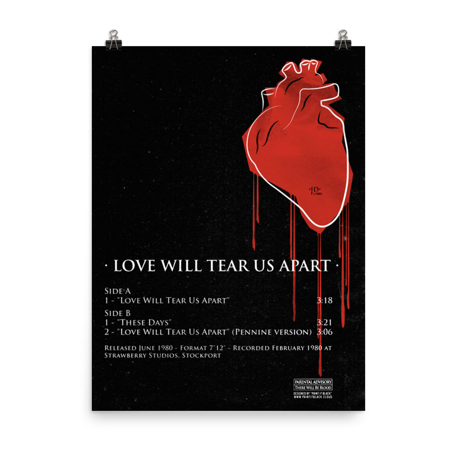 Love will tear us apart – Poster