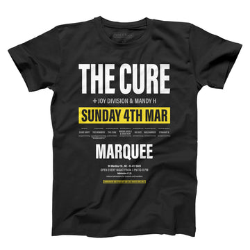 The Cure at Marquee unisex t-shirt | Paint It Black shop online