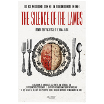The Silence of the Lambs inspired poster Paint It Black