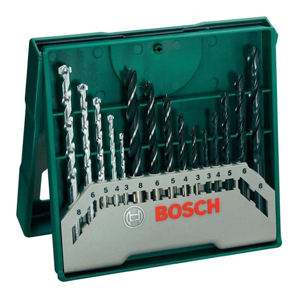2607019675 15 Piece Mixed Mini X-Line Drill Bit Set - Comparethetools.eu