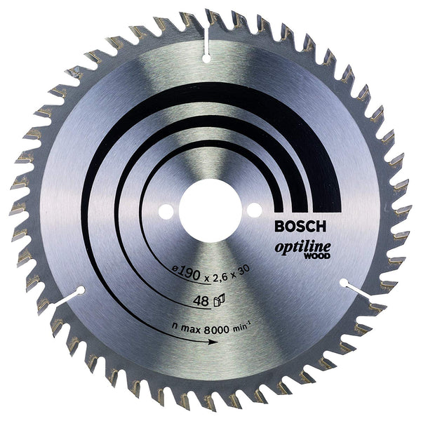 190 x 30mm 48T Optiline Wood Circular Saw Blade - Comparethetools.eu